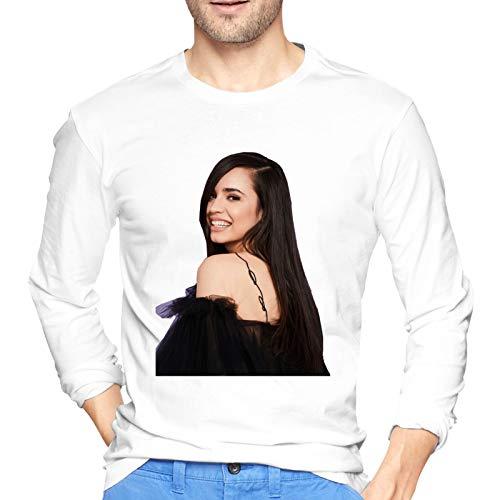 Inspirado por Sofia Star Carson - Camiseta de manga larga para hombre, cuello redondo, color negro