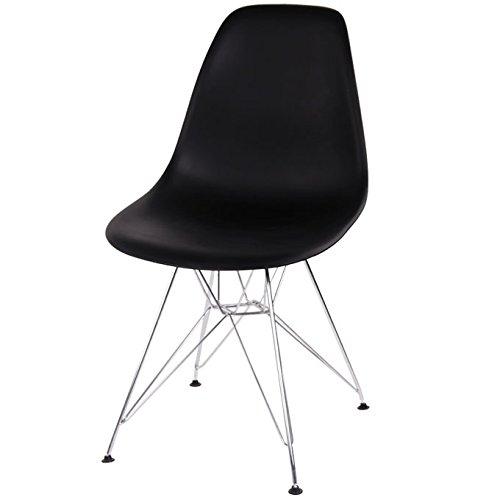 イームズモデル シェルチェア リプロダクト(DSR)(脚:スチール)【色:ブラック】椅子 チェア