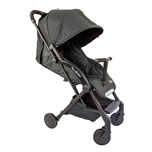 Familidoo Air Lightweight Baby Stroller | Easy One Handed Folding Pushchair | Use From Newborn To Toddler | Pure Black