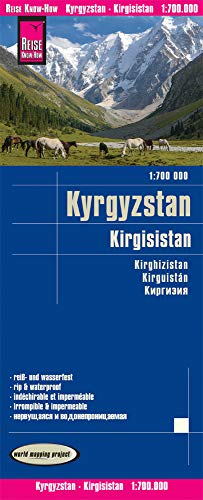 Reise Know-How Landkarte Kirgisistan / Kyrgyzstan (1:700.000): reiß- und wasserfest (world mapping project)