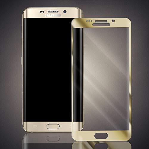 numerva Panzerfolie kompatibel mit Samsung Galaxy S6 Edge Plus Panzerglas [gebogen, Vollständige Abdeckung] Schutzfolie [Gold]