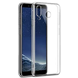 SmartLike Durable Plain Transparent Silicon Case Cover for Samsung Galaxy A8 Star