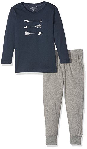 NAME IT Baby-Jungen NMMNIGHTSET Mel NOOS Zweiteiliger Schlafanzug, Mehrfarbig (Grey Melange), 86