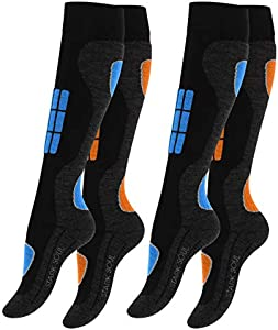 VCA 2 pares Calcetines para deportes de invierno con acolchado especial para mujer