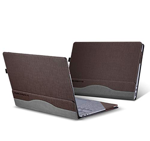 Laptop Cover For Microsoft surface laptop 1/2 / 3 13.5 inch Case Protective Notebook Skin Sleeve with Pen Holder Detachable (For Surface Laptop 3/2/1 13.5',coffee)