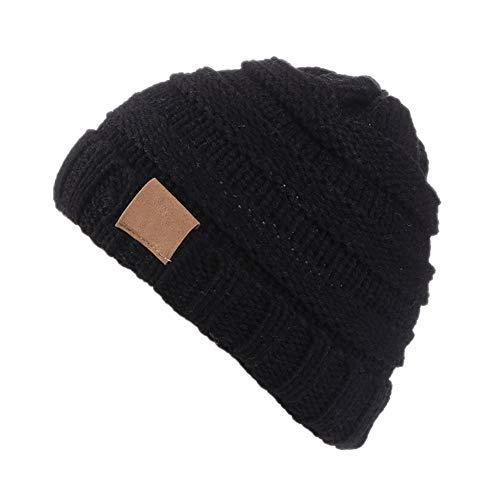 Vi.yo. Bonnet Bébé Fille Hiver Chaud Enfants Fille Bonnets Tricotés Bonnet Unisexe Automne Chapeau Chapeau Pas Cher Fashion Chic 2-8 Ans Noir