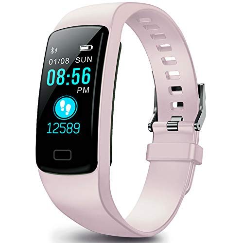 Fitness Tracker, Activity Tracker Health Exercise Fitness Watch Waterproof with Heart Rate Monitor and Sleep Monitor, Calorie Counter, Step Counter Pedometer Walking for Kids Girls and Boys