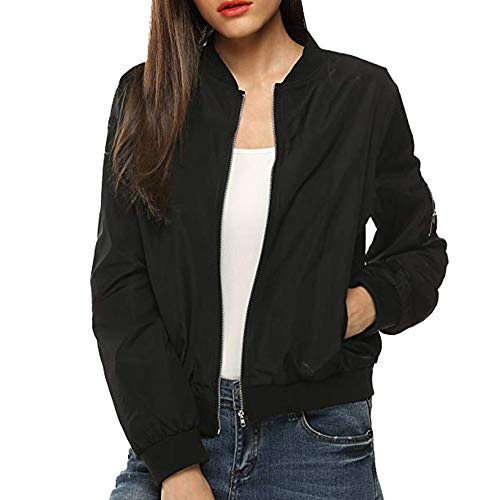 Rosennie Damen Mode Lange Ärmel Spitze Jacken Anzug Beiläufig Jacke Mantel Frühling Sommer Langram Outerwear, Schwarz A, M