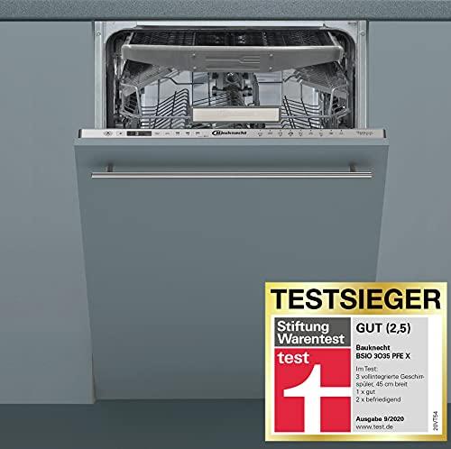 Bauknecht BSIO 3O35 PFE X Vollintegrierter Geschirrspüler - 45 cm Breite