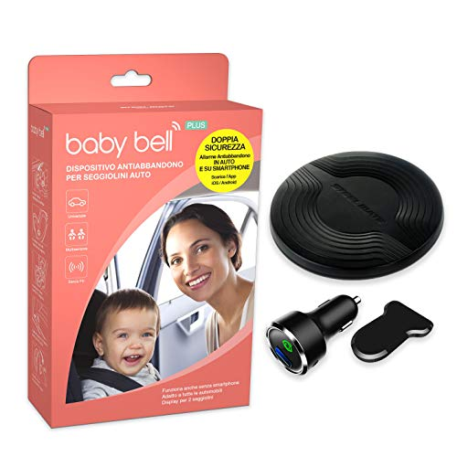 Steelmate Baby Bell Plus Anti-Verlust-Gerät – die letzte Generation – erweiterbar auf 2 Kindersitze mit optionalem Pad – 100% Universal