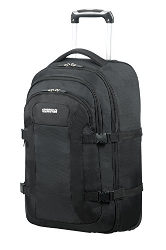 "American Tourister Road Quest - Wheeled Laptop Backpack 15.6"" Mochila tipo casual, 53 cm, 35 liters, Negro (Solid Black)"