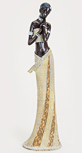 Wurm Design XXL afrikanische Frau 42 x 11cm Afrika Figur Afrikanerin Modell