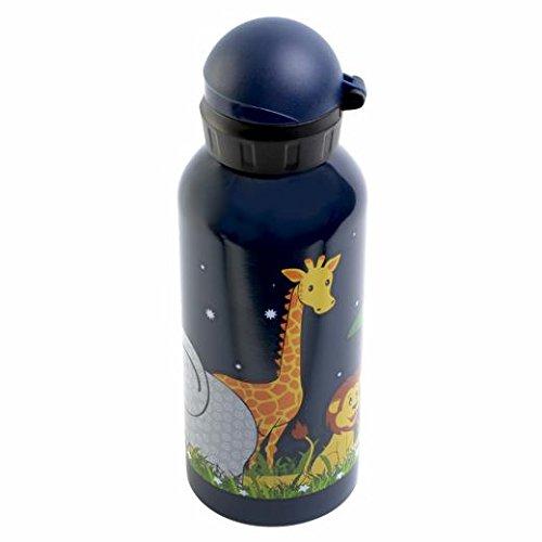 Bobble Art BPA-frei. Trinkflasche für Kinder, 600 ml, Edelstahl Klappdeckel und Sportverschluss für einfache Handhabung und Komfort. Jungle Design Wasserflasche