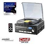 auvisio Plattenspieler: Kompakt-Stereoanlage MHX-550.LP für Schallplatte, CD, MC, MP3 (Schallplatten Anlage)