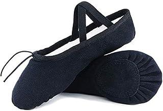 Ballet Shoe Ballet Slippers for Girls Toddler Canvas Dance Yoga Shoe (Toddler/Little Kid/Big Kid/Women)