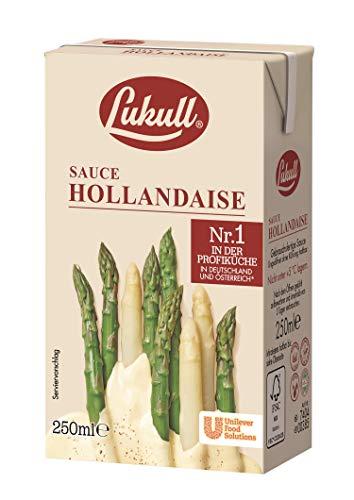 Lukull Sauce Hollandaise sofort einsetzbar, zart, cremig und gelingsicher, 1er Pack (12 x 250 ml)