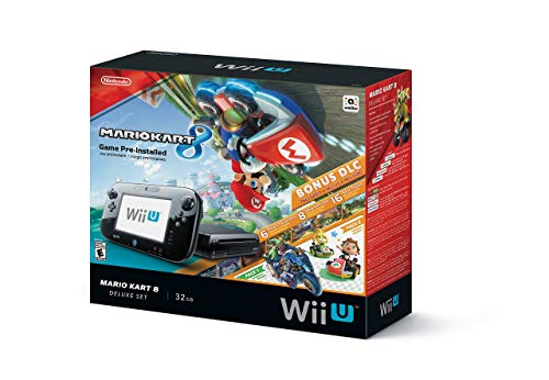 Nintendo Wii U Mario Kart 8 Deluxe Bundle 32gb black - WUPSKAGP (Renewed)
