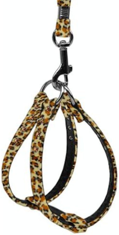 Dog   Cat   Pet Charms Animal Print Step In Harness Jaguar 20