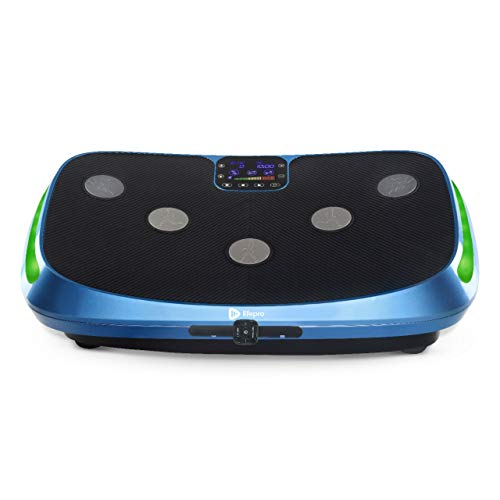 LifePro Rumblex 4D Vibration Plate Exercise Machine - Triple Motor Oscillation, Linear, Pulsation + 3D/4D Vibration Platform | Whole Body Vibration Machine for Home, Weight Loss & Shaping. (Blue)