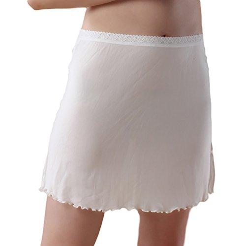 Baymate Mujer Enaguas Cortas Lencería Plain Cling Resistente Cintura Antideslizante con Encaje