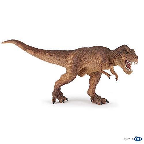 Papo 55075 Dinosaurier Laufender T-Rex braun, Mehrfarben