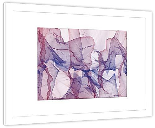 GaviaStore Art Prints - Fotografía con Marco - 70x50 cm - Cuadros Pintura Cartel Foto Mueble Art hogar impresión decoración casa Sala Poster Cuadro Imagen Enmarcad Wall Art Picture (Abstracto B)