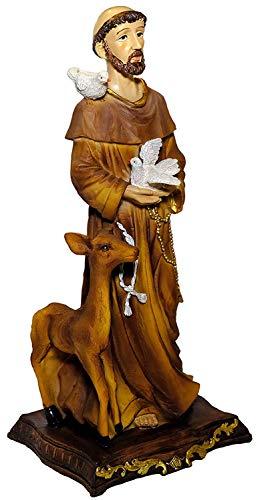 Kaltner Präsente Geschenkidee - Deko Figur Heiliger Franziskus Franz von Assisi (Höhe 32 cm)