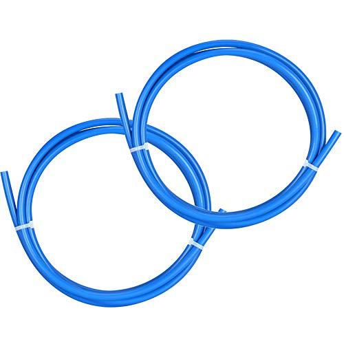 Lezed Tubo in Teflon PTFE per Stampante 3D per Filamento 1,75 mm, Diametro Interno: 2 mm, Diametro Esterno: 4 mm per Estrusore Reprap Rostock Bowden 1.5m 2 pezzi