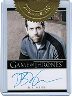Game of Thrones Season Two Autograph Card Executive Producer D.B Weiss