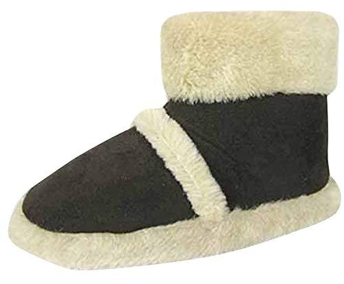 Coolers - Nuove pantofole stivale donna Coolers marca FUR COLLAR, tessuto microsuede, morbide, foderate Snugg 316. Taglie adulto Regno Unito 3-4 / 5-6 / 7-8, Nero (nero), 37.5 (5 UK)