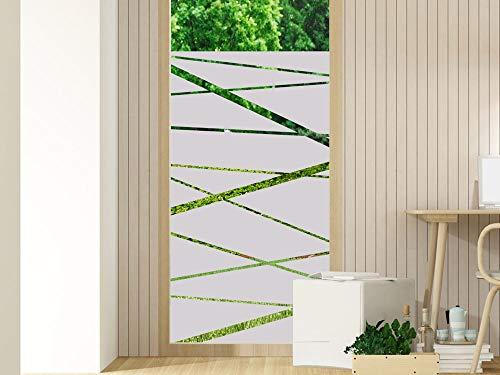 GRAZDesign Fensterfolie Bad - Glastür Aufkleber oder Duschkabinen Tür - Fenstertattoo Sichtschutz/Streifen Linien / 70x110cm Breite x Höhe