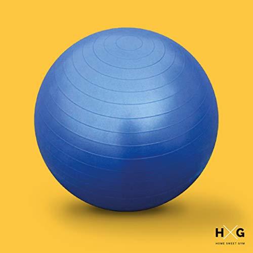 JOWY Fitness Ball, es Pelota de Ejercicio para Yoga y Pilates en diámetros de 65 cm, con tecnología Anti explosión, Antideslizante y con inflador Incluido. Tu casa es tu Gimnasio