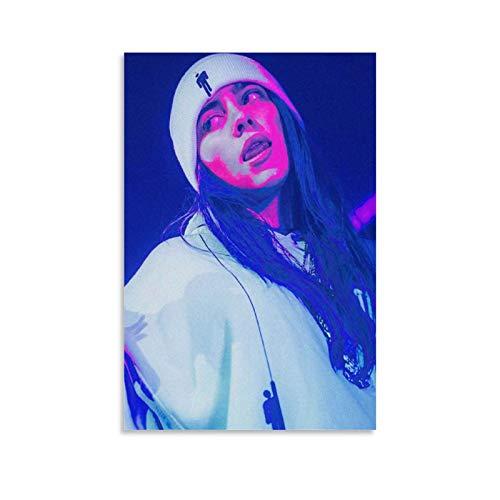 ZXCQWE Billie Eilish Neon 38 - Póster decorativo de lienzo para pared de salón, póster para dormitorio, 50 x 75 cm