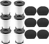 6 Filtri per aspirapolvere ariete Handyforce 2761 e 2759 con 6 filtri in schiuma