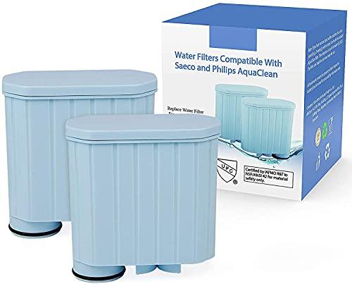 Kaffeefilter kompatibel mit Philips AquaClean, Aktivkohleenthärter Wasserfilter Kalkschutzfilter kompatibel mit CA6903 / 10/00 / 01/22 / 47 (2 Stück)