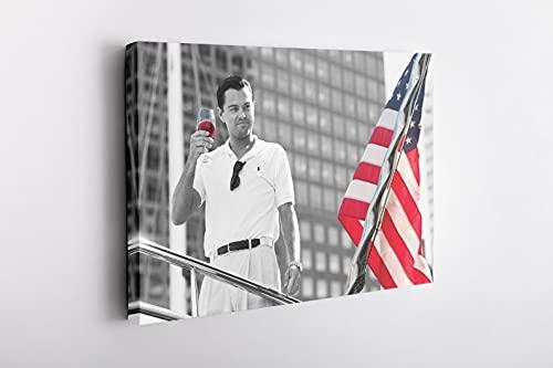 Cuadros decorativos Decoración del hogar HD vino impresión de la bandera americana pinturas en blanco y negro imagen arte de la pared cartel de lienzo modular fondo de cabecera moderno 20x28pulgadas