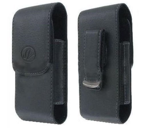 FYL Black Case Pouch Holster with Belt Clip for Tracfone/Total/Net10 LG 237C LG237c