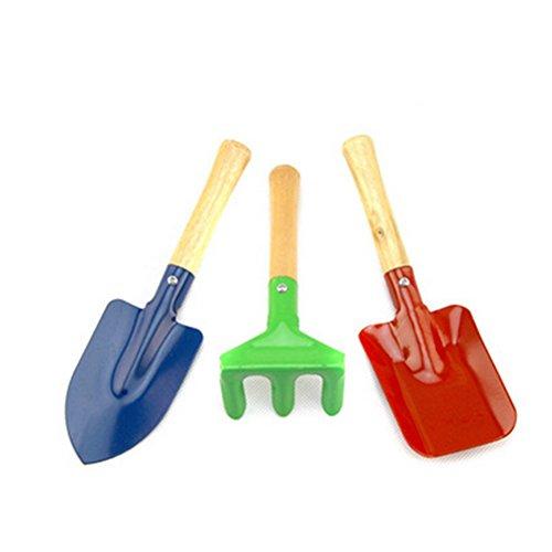 Rocita Juego de herramientas de jardinería para niños, incluye pala, rastrillo de hojas, pala, herramientas de jardín, juguetes al aire libre y juguetes de aprendizaje para niños