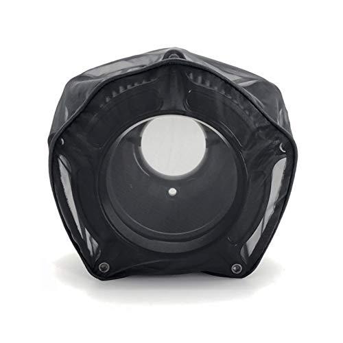 QAIK Luftfilter wasserdichte Regensocke Schutzabdeckung Fit for Harley Sportster 883 1200 XL Touring Road Glide Street Glide Softail Dyna (Color : Black 1)