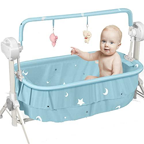 LFLDZ Baby Electric Cradle Swing, per la Sedia a Dondolo in Metallo Neonato con Lettore Musicale Leggero Multi-Funzione Bassinet Bassinet Culla Bambini