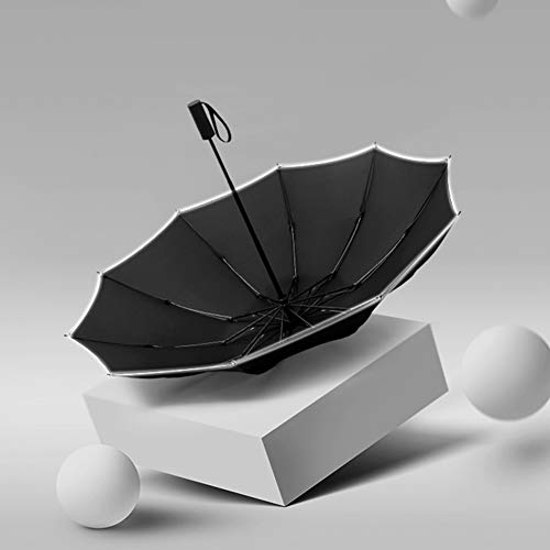AIWKR Cars Omgekeerde Paraplu, Winddichte Reis Paraplu, Lichtgewicht Compact Draagbare Omgekeerde Paraplu's Auto Open/Close Button, voor Mannen Vrouwen Kinderen, Zwart