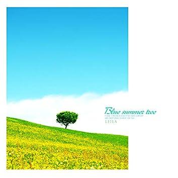 Blue summer tree