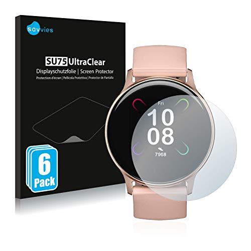 savvies 6-Pezzi Pellicola Protettiva Compatibile con Umidigi Uwatch 3S Protezione Schermo Trasparente