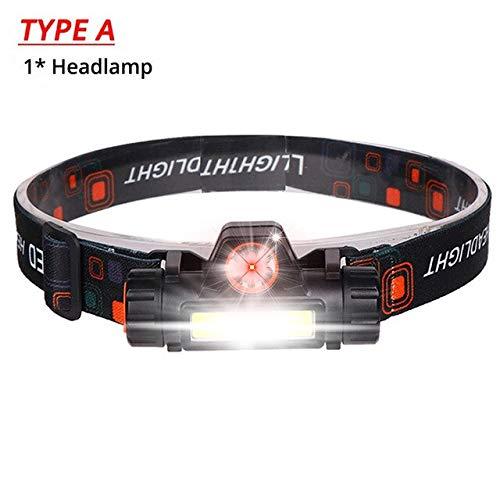Lampe frontale à LED 3000LM, phares rechargeables, câble USB XPE + COB, lampe frontale étanche pour la course, le jogging, la randonnée de type A