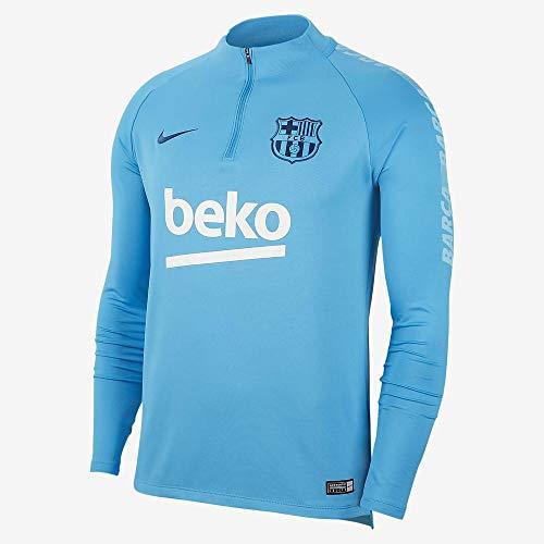Nike Herren FCB M NK Dry SQD DRIL Long Sleeved T-Shirt, Equator Blue, L