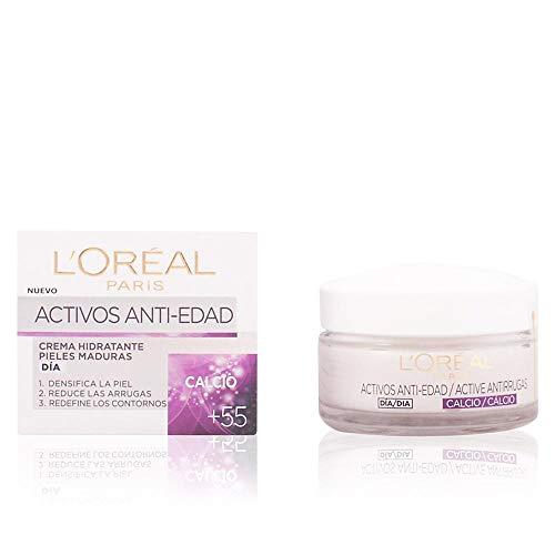 L'Oreal Paris Skin Expert - Crema de Día Nutritiva Anti-Arrugas, Tratamiento con Calcio para Pieles de +55 - 50 ml