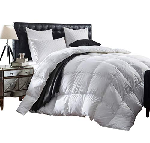 Luxurious 1200 Thread Count Goose Down Comforter Duvet Insert, King Size, 1200TC...