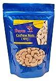 Shara's Dry Fruits Premium (W320) Whole Cashew Nuts (Kaju) (500gm)