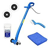 Grout Groovy Grout Cleaner Bundle, Electric Stand Up Grout Cleaning Machine with 20' Cord, 3 Brush Wheels, 1-4oz super grout concentrate cleaner, 1 Grout Hand Brush, 1 Microfiber Cloth