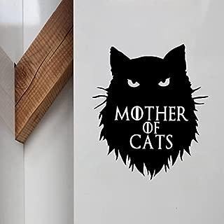 Game of Thrones, Khaleesi- Mother of Cats Decal Vinyl Sticker for MacBook, Laptop, Car/Van, Truck, Wall/Window Door. 5.6 x 4.9 inches GB-1105